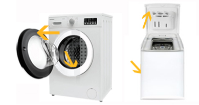 Où se trouve la plaque signalétique de ma machine à laver ?